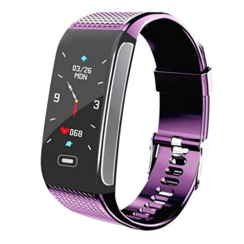 YYZ Smartwatch para Hombres Y Mujeres para Android iOS Fashion Sports Impermeable IP68 Presión Arterial Fitness CK18S Smart Watch,C