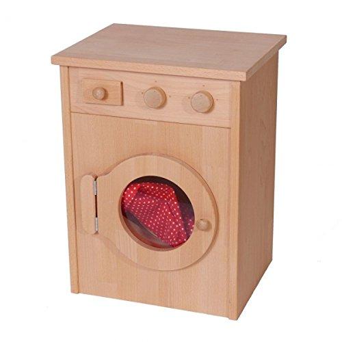 Klassische Kinder-Holz-Waschmaschine 2022G - Waschtrommel - Waschmittelfach