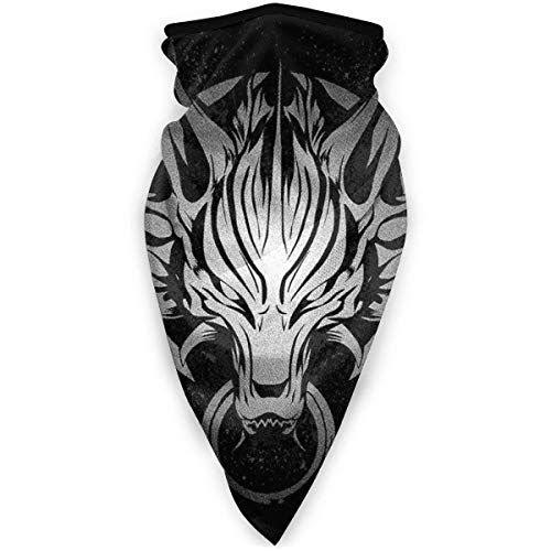 WH-CLA Neck Gaiter Cloudy Wolf Final Fantasy VII A Prueba De Viento Polvo Protector Solar Pañuelo para La Cara Pañuelos Estampados Polaina para El Cuello Sin Costuras Multifunción Ligera
