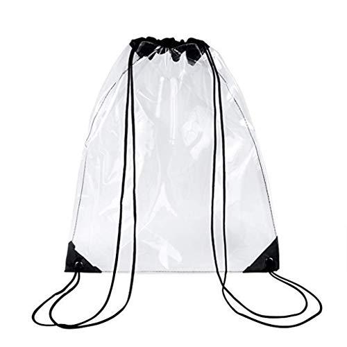 RG-FA Sac à dos avec cordon de serrage Transparent Noir