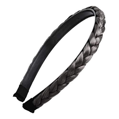 Trenza Trenzado Aro para el cabello Trenzado Trenzado Diadema Accessioeies para mujeres Niñas (Negro)