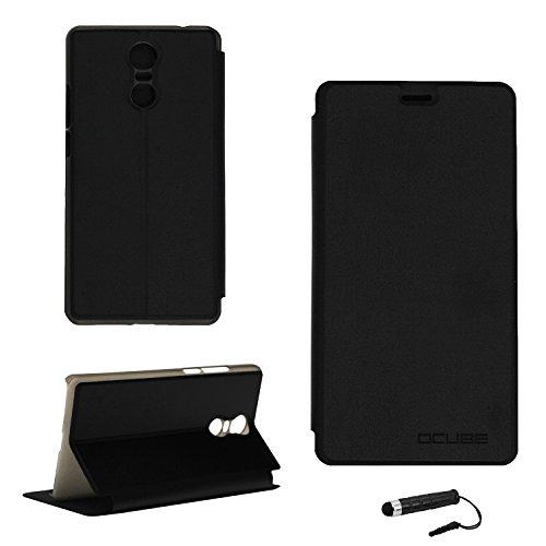 Tasche für Bluboo MAYA MAX Hülle, Ycloud PU Ledertasche Metal Smartphone Flip Cover Hülle Handyhülle mit Stand Function Schwarz