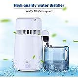 JIXIN Destilador De Agua, 4Liter Home Encimera Agua Pura Agua Destiladora