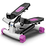 Mini Stepper d'appartement, Twister 2 en 1 Aérobic avec Cordes élastiques Swing Stepper pour...