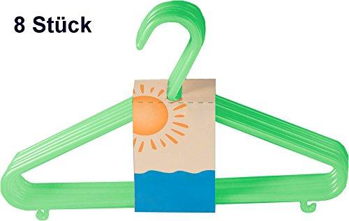 Bieco Kinder Kleiderbügel Kunststoff 8 Stück Farbe grün