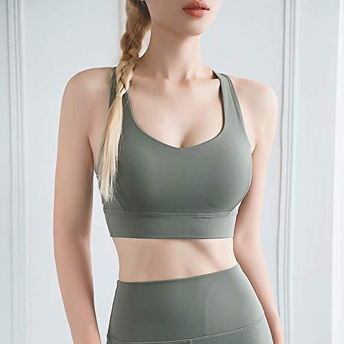 QingYu Sujetadores Deportivos para Mujer Sujetador Deportivo Crop Push Up Gym Tops Mujeres Yoga Running Workout Athletic Walking Pad Wear Tank Top Underwear