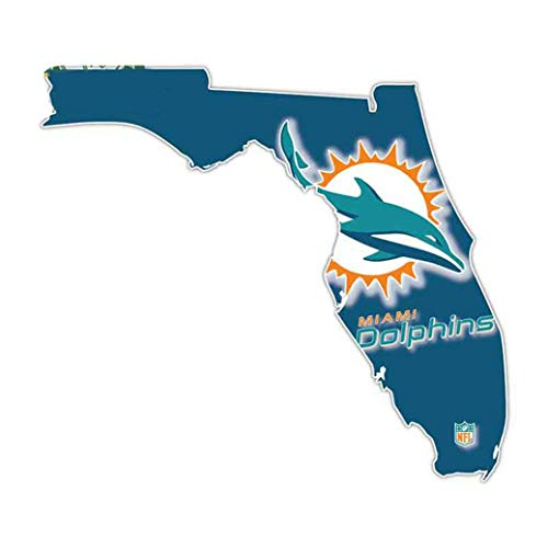 Scopri offerta per Decorazione auto 13,5 cm x 11,6 cm Per Florida Miami Dolphins Car Truck Decal Sticker grafico decalcomania moto finestra golf cart cappuccio