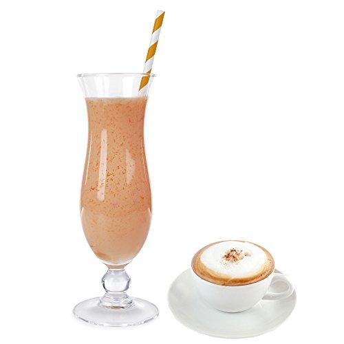 1 Kg Cappuccino Geschmack Eisgetränkepulver für 9 Liter Smoothi Slush Sorbet Granita Eisgetränke Eis Cocktails