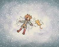 数字で描くアクリル絵の具の色原稿女の子猫雪遊び友情Diy数字で描くデジタル絵画現代アートクリスマスの誕生日の家の装飾 カスタマイズ可能 40x50cmフレームなし