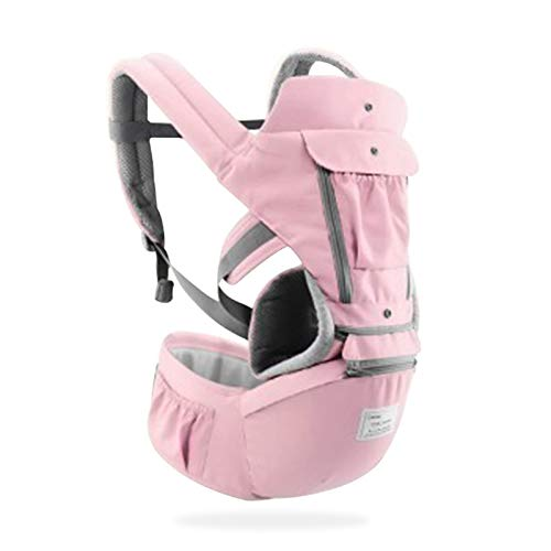 3-in-1 Ergonomic Baby Carrier Infant Kid Baby Hipseat Sling Front Facing Kangaroo Baby Wrap Carrier for Baby Travel 0-36 Months (Pink)