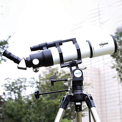 GGPUS Finder Espejo 6 x 30, telescopio, telescopio de Viaje, telescopio de refracción astronómica con trípode y Alcance del buscador, telescopio portátil, Longitud Focal 480 mm, Prisma de 45 °