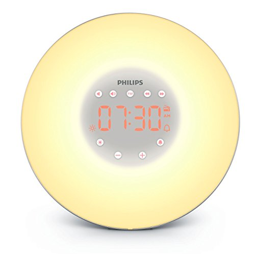 Sale!! Philips Wake-Up Light with Sunrise Simulation and Radio, Silver, HF3606