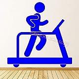 zqyjhkou Gym Fitness Laufband Übung Wandaufkleber Sport Gym Club Wohnkultur Wohnzimmer Aufkleber...