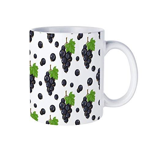 Wendana Zwarte bes Naadloze Patroon Mok Kerstmis Novelty Mok Witte Koffie Mok Thee Cup Mok, Verjaardag Geschenken, voor Vrouwen, voor Meisjes, voor Mama, Papa