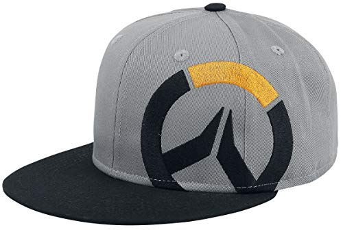 Overwatch Logo Snapback-Cap Grau Meliert/Schwarz, Grau Meliert/Schwarz, Standard