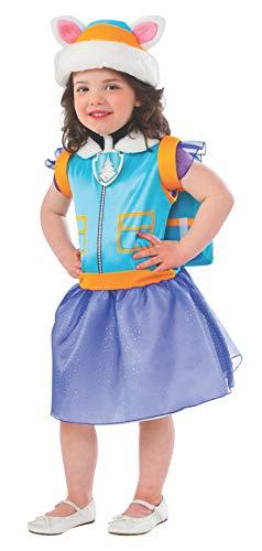 Patrulla Canina - Disfraz de Everest para niños, infantil talla 3-4 años (Rubie's 610988-S)