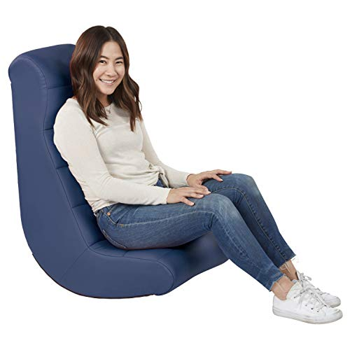 Soft Ergonomic Horizontal Soft Video Rocker - Great for Reading, Gaming, Meditating, or TV for Kids Teens and Adults - Navy