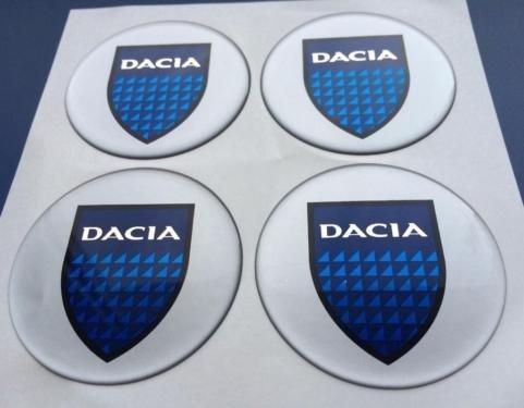 Dacia ★4 Stück 60mm Aufkleber Emblem für Felgen Nabendeckel Radkappen
