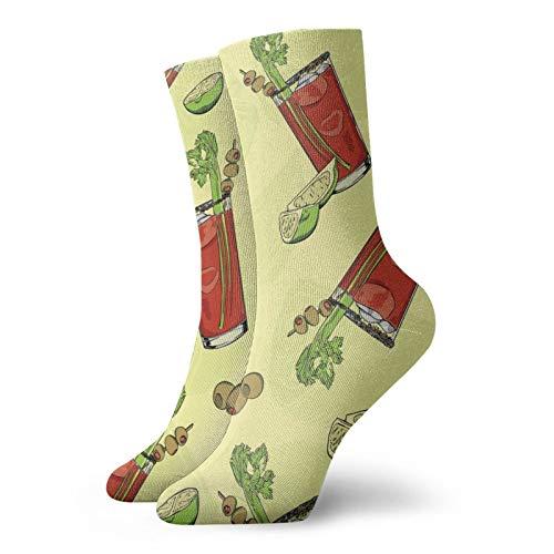 BJAMAJ Calcetines unisex de la fruta del árbol canario interesante de poliéster de la tripulación calcetines de adulto calcetines de algodón