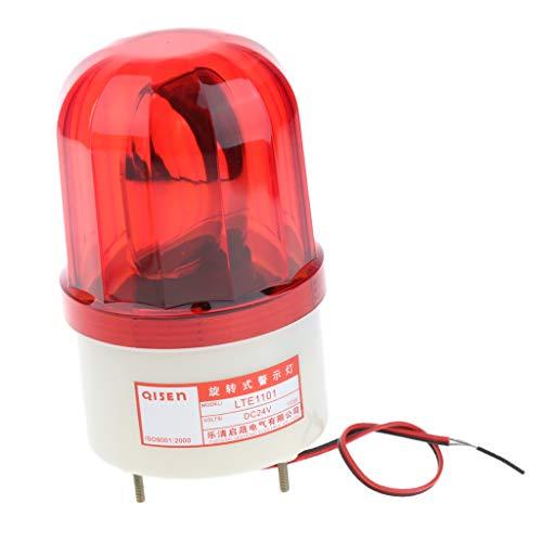 Luz De Advertencia De Luz Estroboscópica Giratoria LED De 24 V Señal De Señalización De Flash De Baliza Roja - 16