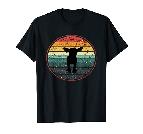 Chihuahua Perro Amantes Vintage Sunset Loves Dogs Funny Camiseta