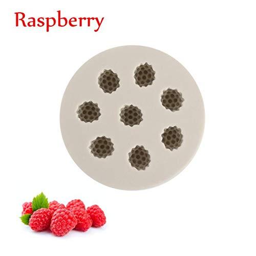 JJCDKL 3D Blueberry Raspberry Silicona Cake Fondant Molde He