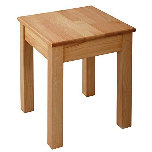 Krokwood 1 x Esszimmer Stuhl ohne Eingriff Massivholz Buche FSC 100% Tomas 35x35x45 cm Hocker