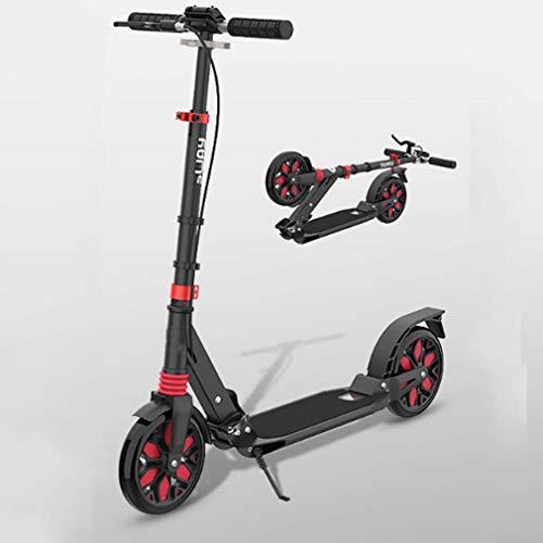 LJLYL Roller für Kinder ab 6 Jahren, Klappbarer Roller für Jugendliche und Erwachsene mit großen Rädern,...