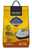 Khazana Premium Ultra Long Parboiled Basmati Rice - 10lb Resealable Ziploc Bag   NON-GMO,...
