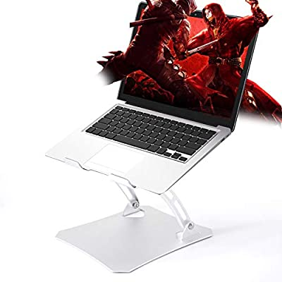 """Laptop Stand, Yohuton Ergonomic Height Angle Adjustable Computer Laptop Holder Compatible with MacBook, Air, Pro, Dell XPS, Samsung, Alienware All Laptops 11-17"""", Supports Up to 44 Lbs by Yohuton"""