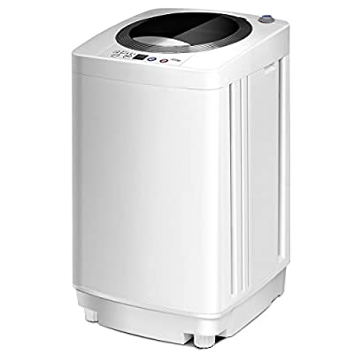 CASART Full-Automatic Washing Machine with 6 Washing Modes, Adjustable Water Level, Compact Laundry Washer/Spinner for Apartment, Home, Hotel, Dorm