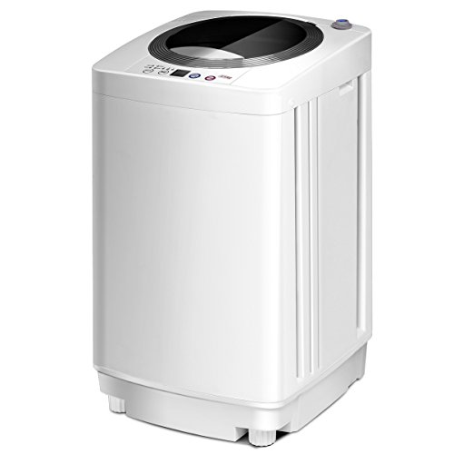 Casart Washing Machine Portable Compact Full-Automatic W/Drain Pump 8 Lbs Cloth Washer and Spinner