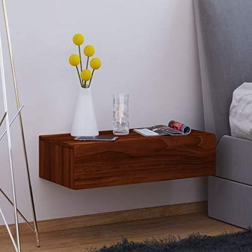 VCM Dormas Maxi Wand Nachttisch/Nachtschrank/Beistelltisch kommode, Holzdekor, Kern-nussbaum, 15 x 60 x 31.5 cm