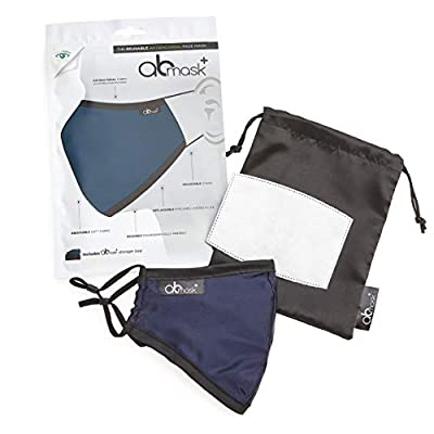 AB Mask - The Reusable, Adjustable & Washable Antibacterial Face Mask - Sterileyes® Antibacterial Fabric Kills 99.99% of Bacteria on Contact, Soft Breathable Fabric, 7 Layers of Protection from The Body Doctor