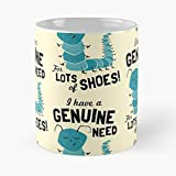 Generic Shoes Shopping Fetish Insect Caterpillar Shoe Shopaholic Hoarder Migliore Tazza da caffè Regalo 11 oz