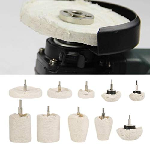 Fregona de pulido 10 Uds Kit de rueda de pulido de tela de algodón rueda de pulido para pulido de joyería de Metal