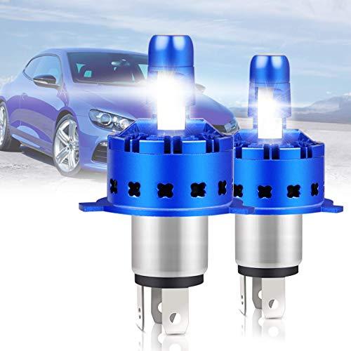 2 Pcs IP67 hb2 hi/Low H4 LED 12000LM 50W Bombillas para Montaje de Faros...