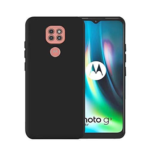 Shopbyshop Flexible Back Cover for Motorola Moto G9 (Black)