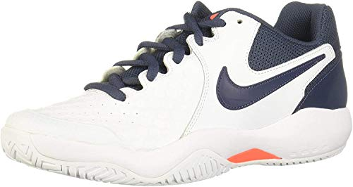 Nike Air Zoom Resistance Scarpe da Tennis Uomo, Multicolore (White/Thunder Blue/Hyper Orange 148), 44 EU