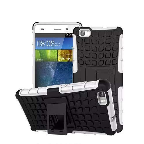 betterfon Huawei P8 Lite/Dual-SIM Outdoor Handy Tasche Weiss Hybrid Hülle Schutz Hülle Panzer TPU Silikon Hard Cover Bumper