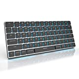 Taptek Mechanical Keyboard Wireless Bluetooth/USB Wired Compact Keyboard for Gaming with RGB Backlit for Mac Desktop Laptop Windows iOS Tablets Android