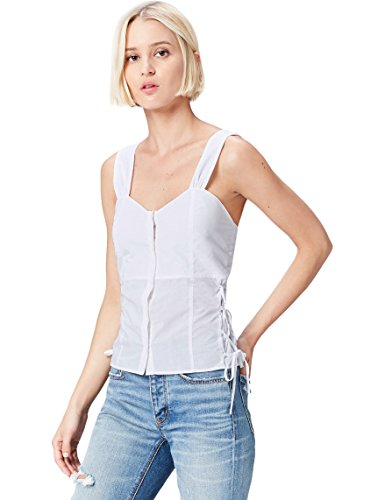 find. Top de Tirantes Con Botones para Mujer , Blanco (White), 42 (Talla del Fabricante: Large)