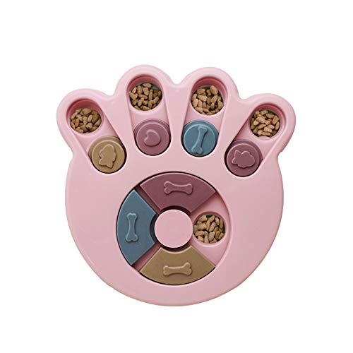 Andiker Hundepuzzle Spielzeug Hunde Lernspielzeug, haltbares interaktives Hund-Spielzeug, Hundehirnspiele, verbessern IQ, 3 Farben (Rosa)