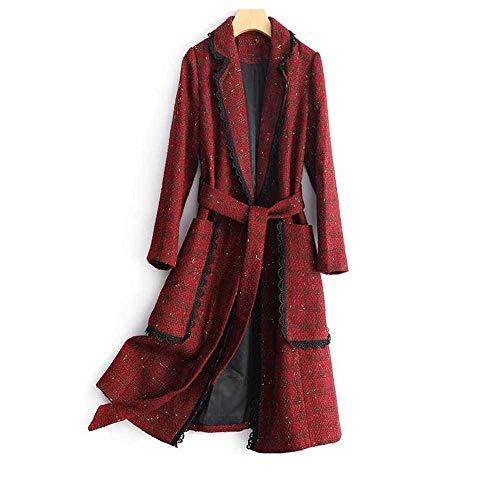 JYDJ Bright Leather Gold Tweed Coat Weibliche Mittellange Herbst Und Winter Slim Plaid Coat