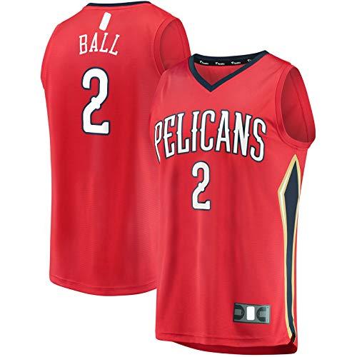 HFHDF Lonzo - Camiseta de manga corta para baloncesto con diseño de Orleans, color rojo