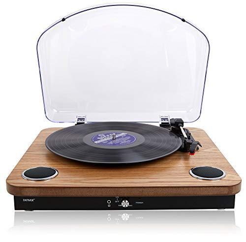 Denver VPL-200 Vinyl Record Player Turntable - Built In Stereo Speakers –...