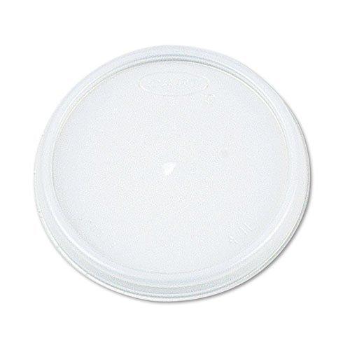 Dart - Plastic Lids, for 12oz Hot/Cold Foam Cups, Vented, 1000/Carton 12JL (DMi CT