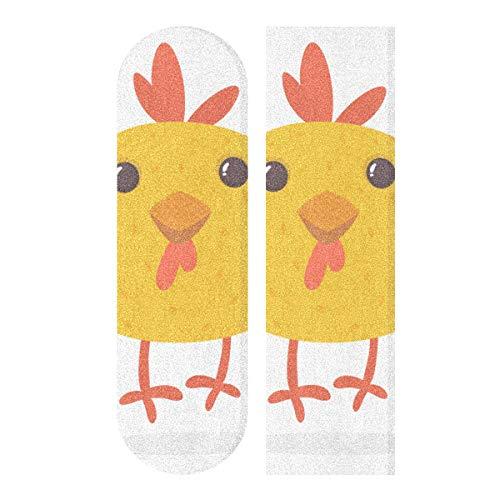 N\A 33.1x9.1 Pulgadas Sport Griptape de Skate al Aire Libre Lovely Small Chicken Print Cinta de Agarre de Skateboard Impermeable a Prueba de Agua para Tabla de Baile Double Rocker Board Deck 1 Hoja