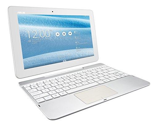 Asus Transformer Pad - Tablet de 10.1' (WiFi + Bluetooth 4.0, 16 GB, 1 GB RAM, Android 4.4 KitKat, Incluye Teclado QWERTY), Blanco