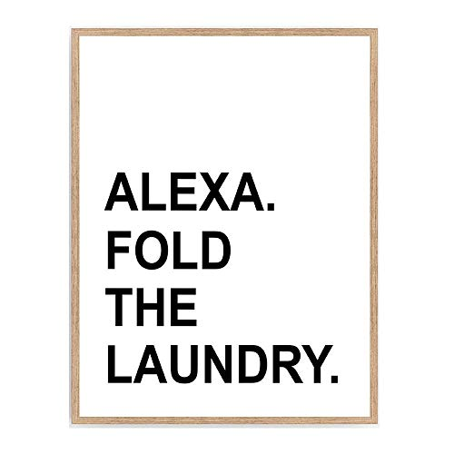 """Mejor Sincerely, Not Funny Black and White Laundry Room Sign Print Typography Signs Home Decor - UNFRAMED - Pun Wall Art Posters - Black and White Laundromat Witty Signs (8""""x10"""", LAUNDRY) crítica 2020"""